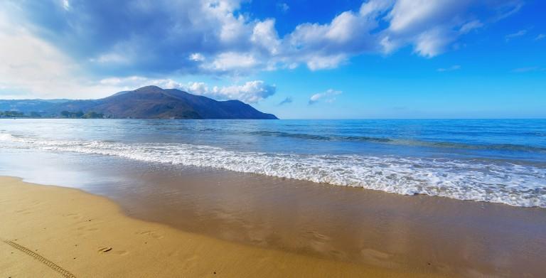 European Blue Flag Georgioupolis Beach Is Popular Every Summer