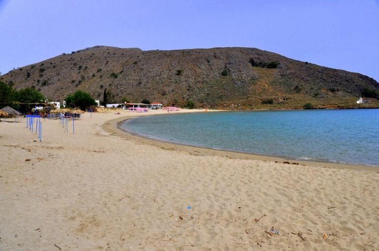 The amazing beach of Kalivaki in Georgioupolis