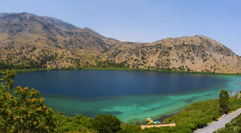 The magnificent lake of Kournas