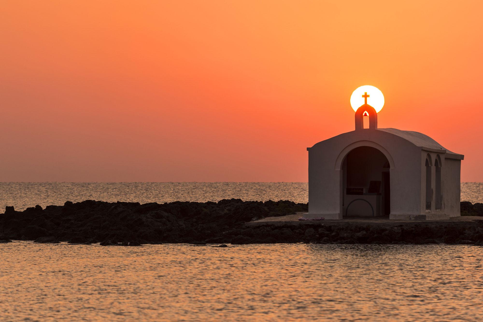 Agios Nikolaos Church Georgioupolis sunset