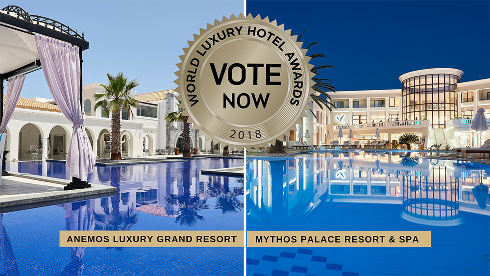 World Luxury Hotel Awards: Vote Now For Mythos Palace Resort & Spa And Anemos Luxury Grand Resort