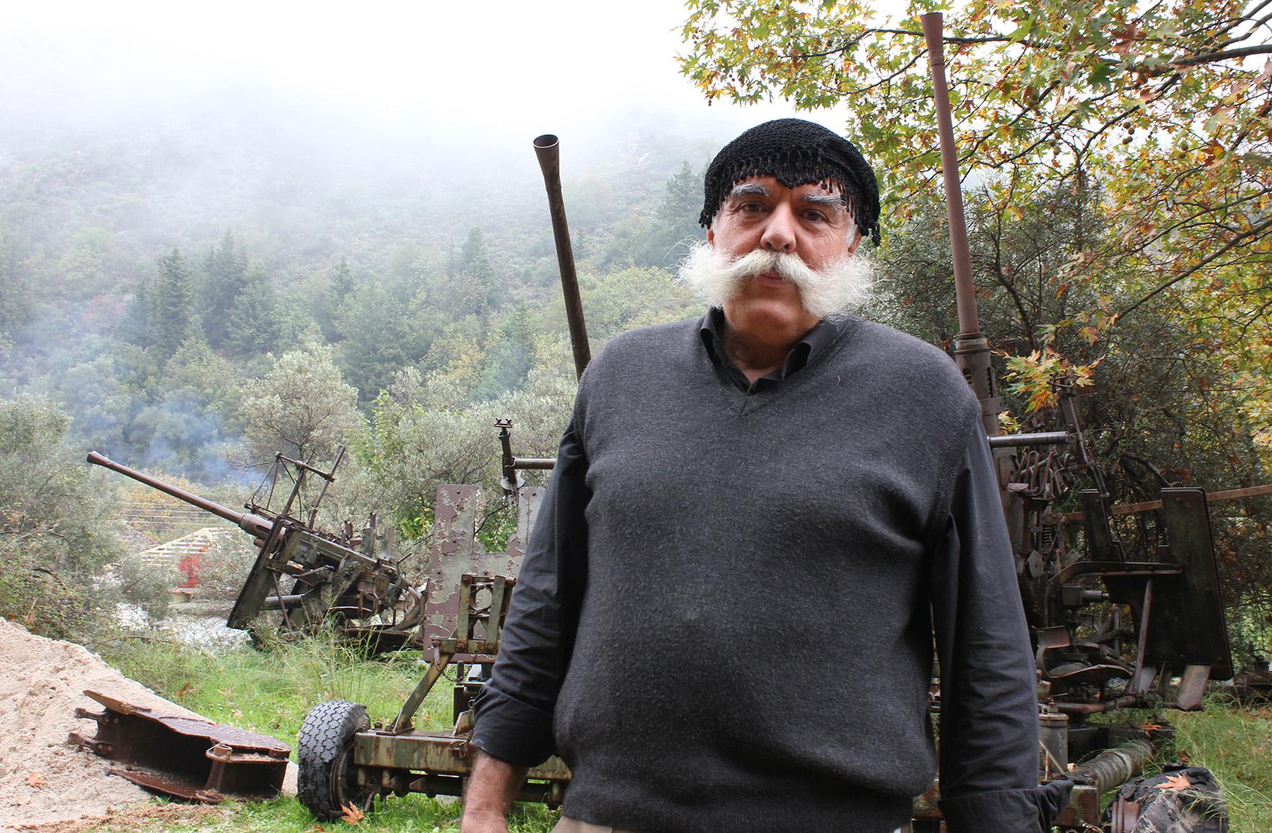 Nikos Gianikakis at Theriso's National Resistance Museum