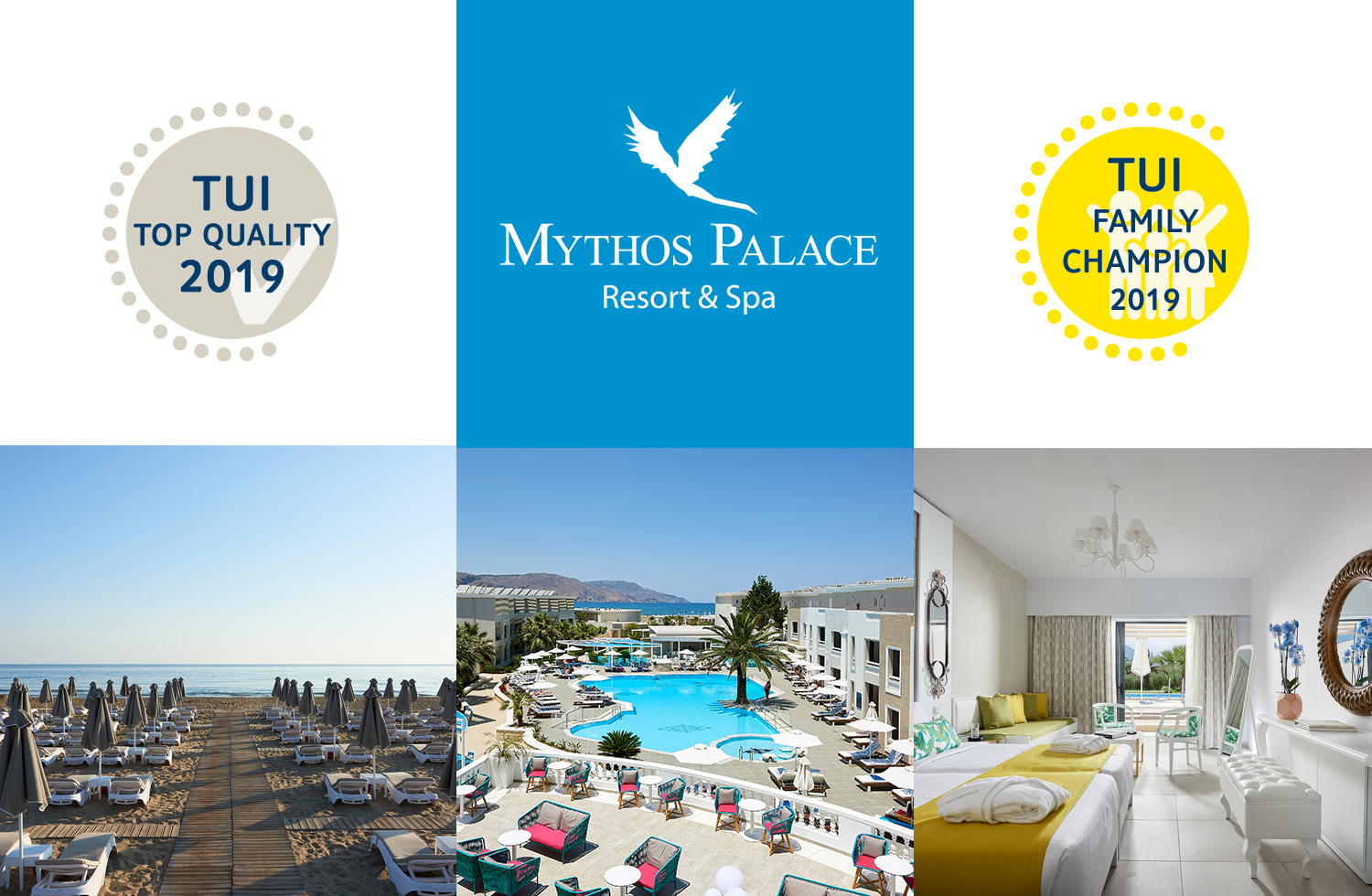 Mythos Palace Awarded By TUI