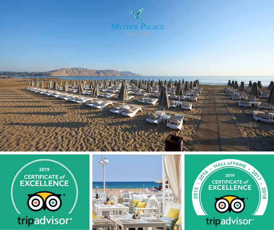 TripAdvisor Presents Mythos Palace Resort & Spa With A 2019 Certificate Of Excellence