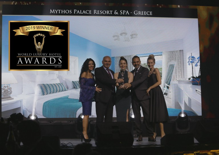 Mythos Palace Resort & Spa awarded as Luxury Beach Resort 2019
