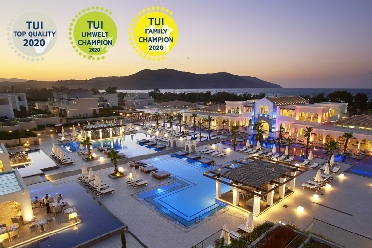 Anemos Luxury Grand Resort is a TUI champion