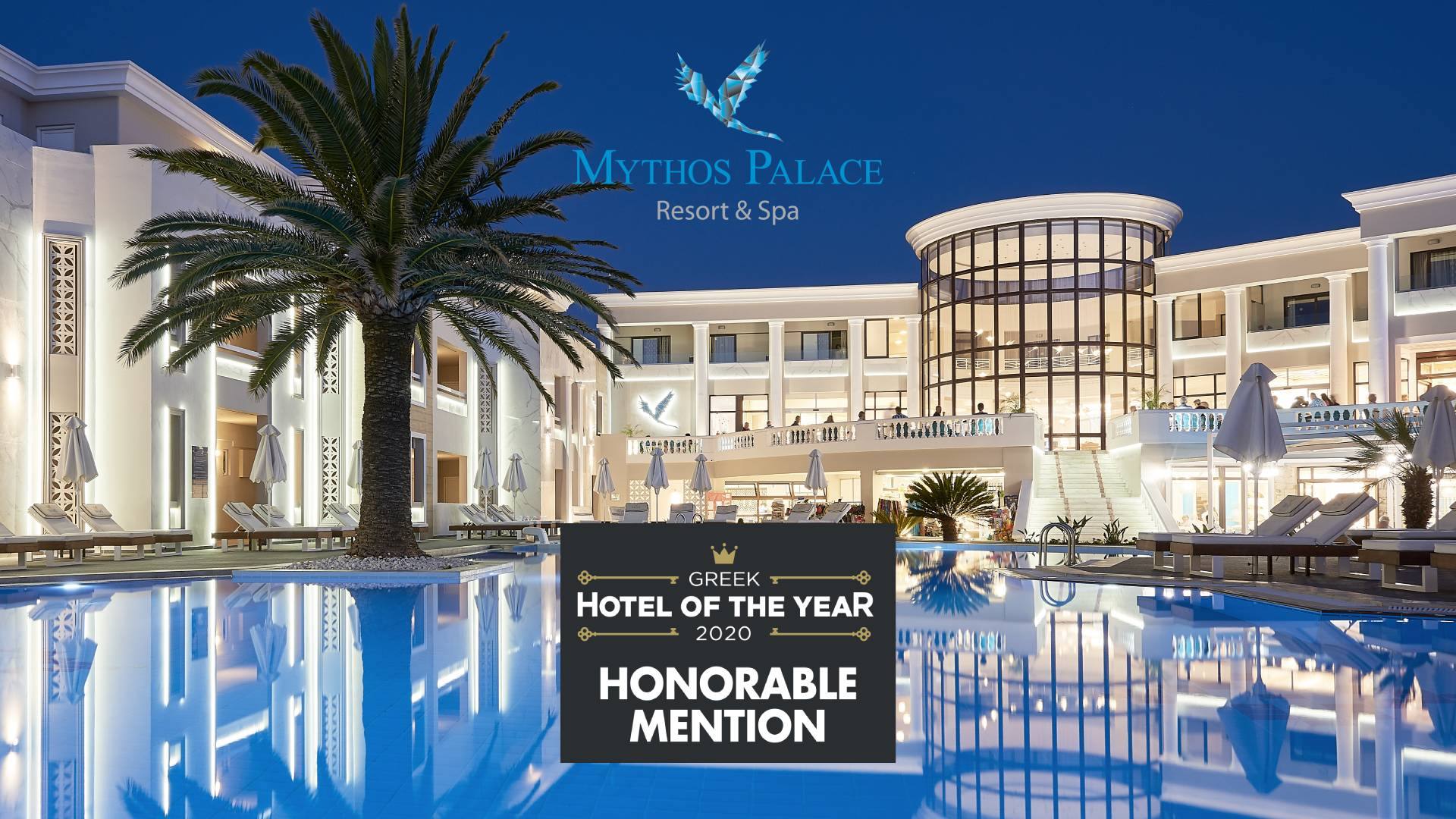 Honorable Mention For Mythos Palace Resort & Spa By The Greek Hotel Of The Year Awards 2020